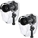 Neewer Rain Cover Coat Dust-Proof Water-Proof Camera Protector Rainwear for Canon Nikon Sony Samsung Pentax Olympus Fuji and Other DSLR Cameras (2 Pieces)