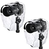 Photo : Neewer Rain Cover Coat Dust-proof Water-proof Camera Protector Rainwear for Canon Nikon Sony Samsung Pentax Olympus Fuji and Other DSLR Cameras (2 Pieces)