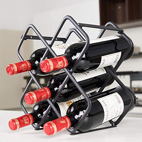 AX-Jj Bottle Rack for Wine, Living Room/Kitchen/Iron Bar Three-Storey Stacking and Creative Stainless Steel
