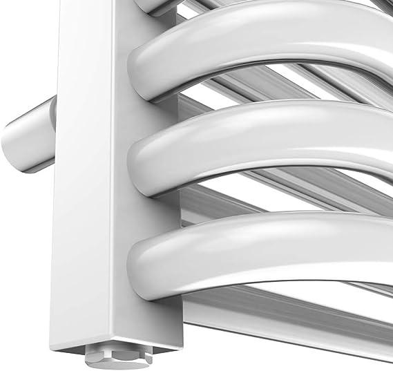 Wei/ß EMKE Handtuchtrockner Heizk/örper 120x40 cm Handtuchheizk/örper f/ür Wasser und Strom mit Kabel und Stecker