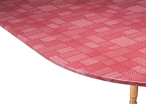 (Miles Kimball Patchwork Vinyl Elasticized Table Cover HomeStyle Kitchen 42