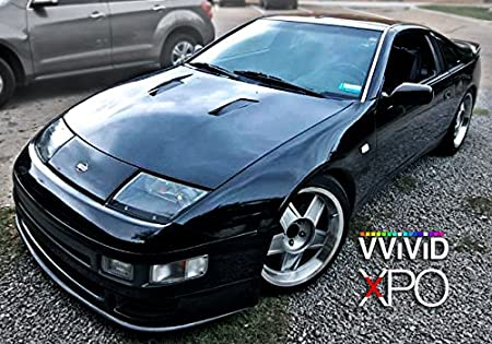 VViViD Black High Gloss Realistic Paint-Like Microfinish Vinyl Wrap Roll XPO Air Release Technology (20ft x 5ft)