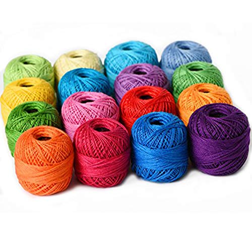 Thread Floss Sewing Soft 10g Cotton Balls Rainbow Colors of