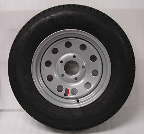 15-Silver-Mod-Trailer-Wheel-with-Radial-ST20575R15-Tire-Mounted-5x45-bolt-circle