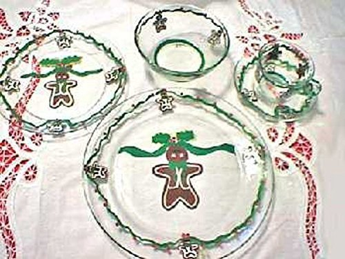 (Gingerbread Dinnerware Sets For Christmas by Clearly Susan, Gingerbread Men, Christmas Dinnerware, Christmas Tableware)