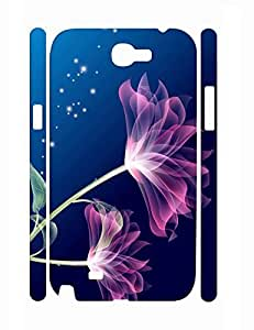 Hybrid Personalized Artistic Lotus Pattern Handmade Samsung Galaxy Note 2 N7100 Hard Case Cover