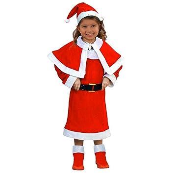 Atosa-69207 Disfraz Mamá Noel Niña Infantil, Color rojo, 5 a 6 años (69207