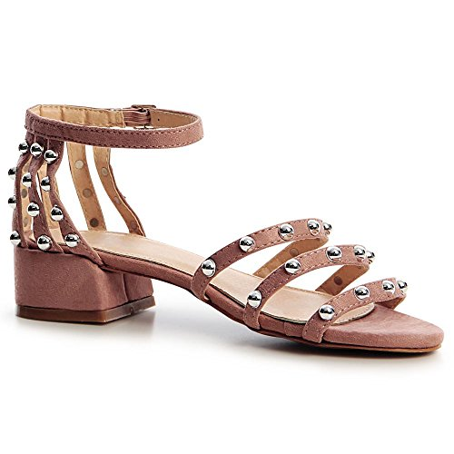 Sandalettes Femmes Sandales Vieux Rose Topschuhe24 fEFTnq