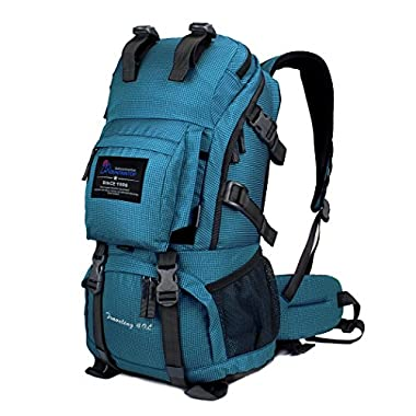 Mountaintop Water Resistant Hiking Daypack with Rain Cover