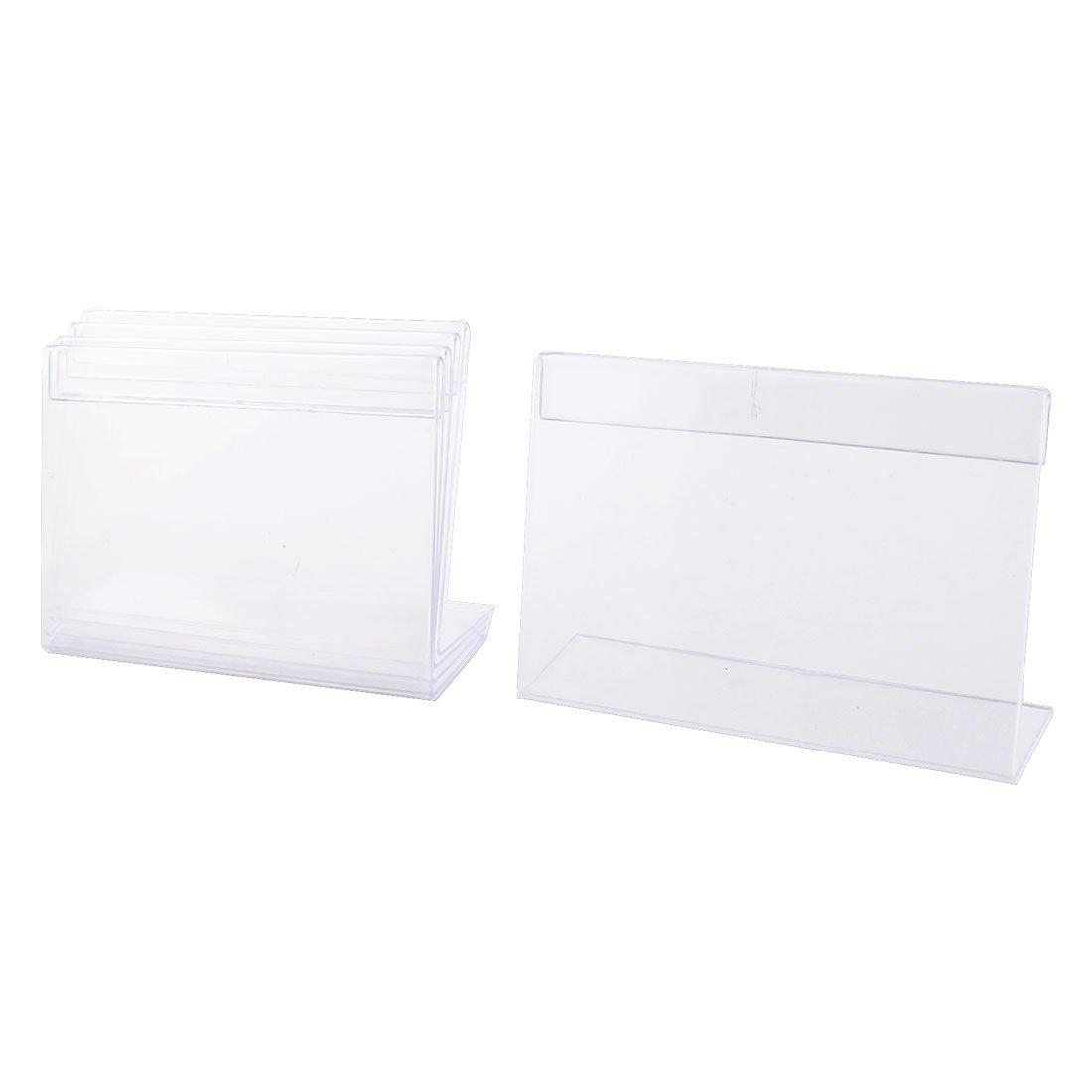 5sostegni rettangolari in plastica trasparente per brochure, larghezza 12 cmx altezza 8cm, supporto per esposizione tabelle o menù SourcingMap a14090400ux0025