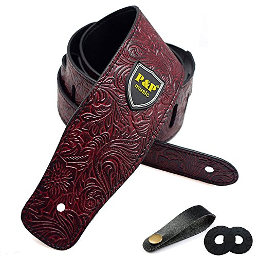 Guitar Strap for Electric Guitar, Acoustic Guitar and Bass,
