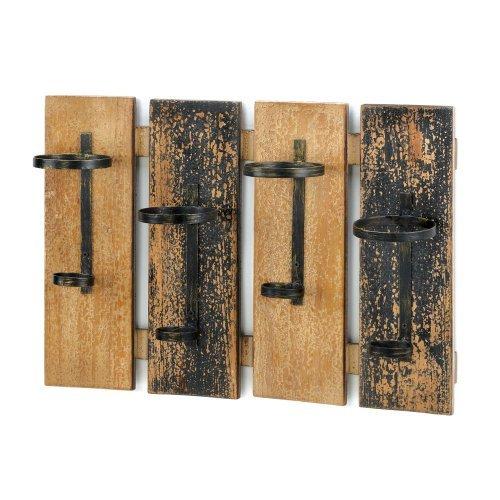 Green Wine Racks (VERDUGO GIFT Rustic Wine Wall Rack)