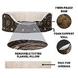 Furhaven Pet Dog Bed   Round Oval Cuddler Nest