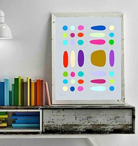 Scandinavian home decor candy art mod modern art baby nursery decor toddlers kids wall art abstract