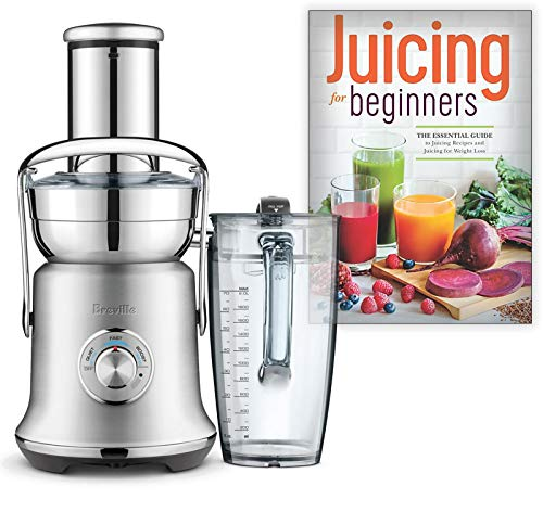 Breville BJE830BSS1BUS1 Juice Founatin Cold XL Centrifugal Juicer Bundle with Juicing for Beginners: The Essential Guide to Juicing Recipes and Juicing for Weight Loss – Brushed Stainless Steel