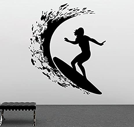 Amazon.com: Surfing Wall Design Extreme Sports Decal Kids Room Wall ...