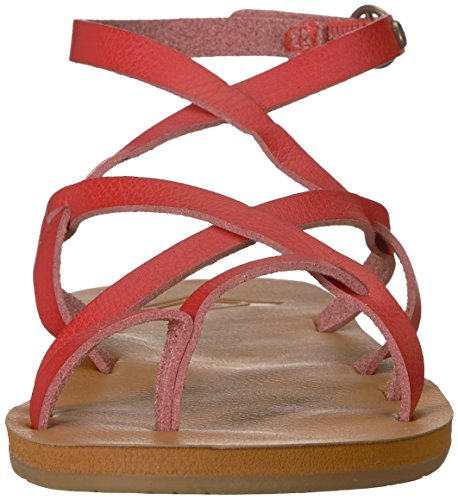 Roxy Women's Julia Flat Sandal Red 1GztgYCUL