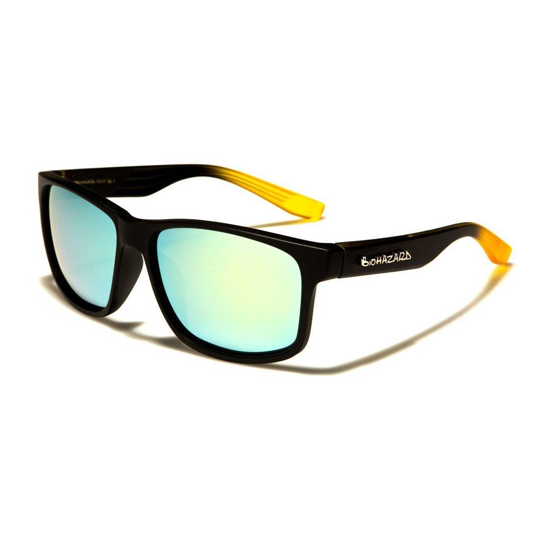 b3dac158d17 Biohazard Wayfarer Sunglasses Fashion Unisex Men s Women s Nerd Glasses  Aviator 30 Colors - Model 1 1  Amazon.co.uk  Clothing