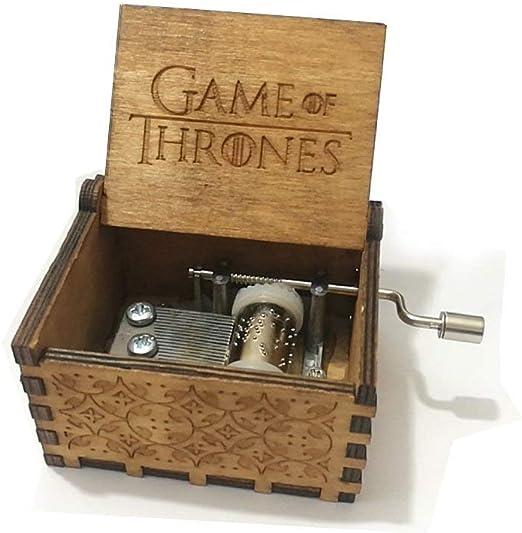 XIN-JI Mano Pura Juego de Tronos clásico Caja de música Mano Caja de música de Madera artesanía de Madera Creativa Mejores Regalos,Game of Thrones: Amazon.es: Hogar