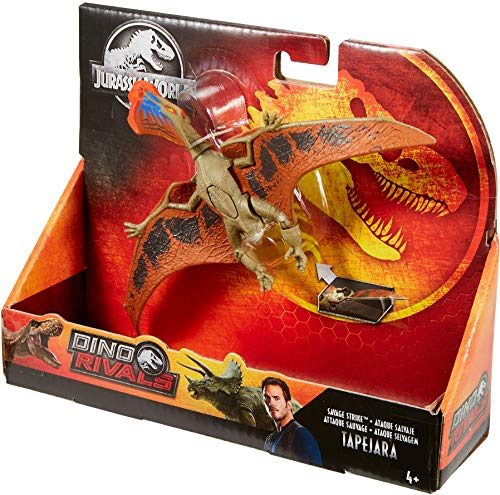 ​Jurassic World Savage Strike Dinosaur Action Figures in Smaller Size with Unique Attack Moves Like Biting, Head Ramming, Wing Flapping, Articulation and More