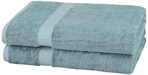 Pinzon Organic Cotton Bath Sheet (2 Pack), Spa Blue