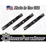 (3)Heavy Duty Kubota Mower Blades Fits 60 Deck Models Repl K5371-99040
