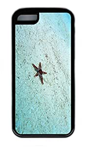 iPhone 5C Case, Personalized Protective Soft Black Edge Case for iphone 5C - Starfish Sea Cover