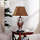 LINA-European-style luxury decorated living room Lamps Retro American neo-classical study bedroom bed lamps