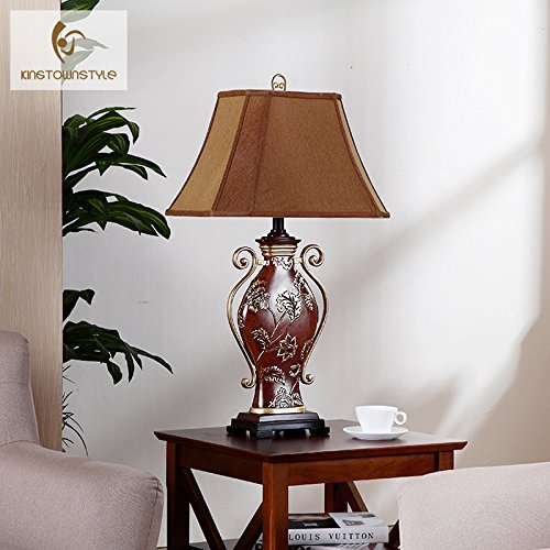 LINA-European-style luxury decorated living room Lamps Retro American neo-classical study bedroom bed lamps by LINA chandelier (Image #5)