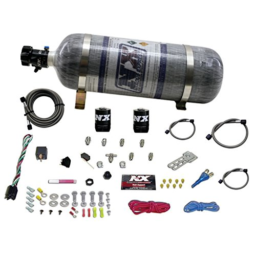 Nitrous Express 20923-12 35-75 HP Sport Compact EFI Single Nozzle System with 12 lbs. Composite Bottle by Nitrous Express