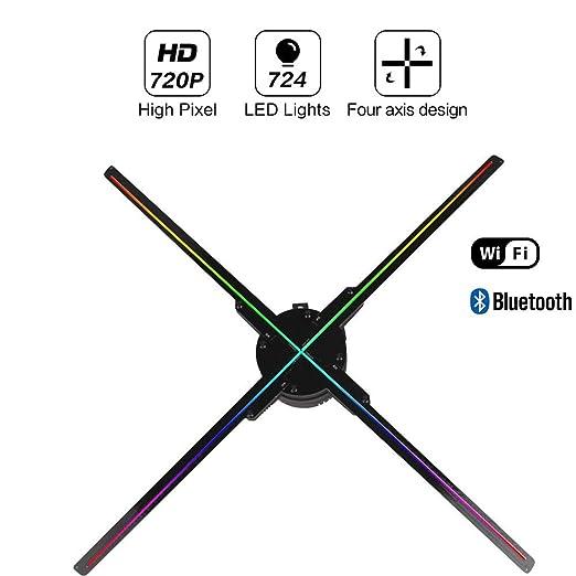 QinLL Ventilador para proyector Holograma 3D, con Bluetooth ...