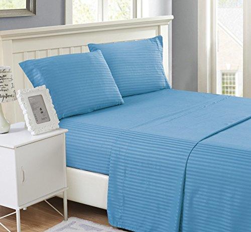 Series Paisley Egyptian Deep Pocket Bed Sheet Set Full/Blue Colors Good