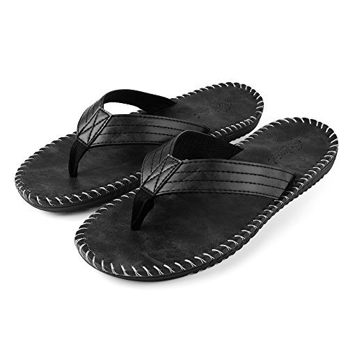 b73548649d72 Aerusi Men s Boy s Flip Flops Sandals Leisure Casual Braid Strap Thongs Flat  Beach Slippers Shoes (