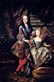 Jean-Francois De Troy Portrait of Louis XV of France and Maria Anna Victoria of Spain - 18'' x 27'' 100% Hand Painted Oil Painting Reproduction