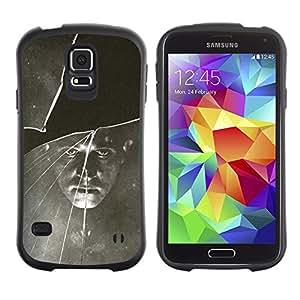 LASTONE PHONE CASE / Suave Silicona Caso Carcasa de Caucho Funda para Samsung Galaxy S5 SM-G900 / Black White Vintage Retro Photo
