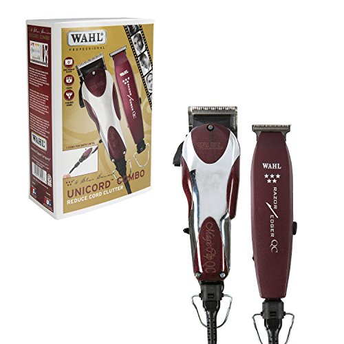 Wahl Professional 5-Star Unicord Combo #8242 – Reduce Your Cord Clutter! – Features the Magic Clip and Razor Edger – Great for Fading, Blending, and (Wahl Clippers And Trimmers)