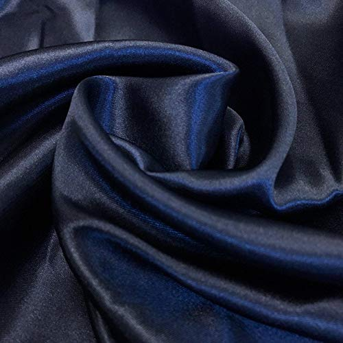 - mds Pack of 10 Yard Charmeuse Bridal Solid Satin Fabric for Wedding Dress Fashion Crafts Costumes Decorations Silky Satin 44
