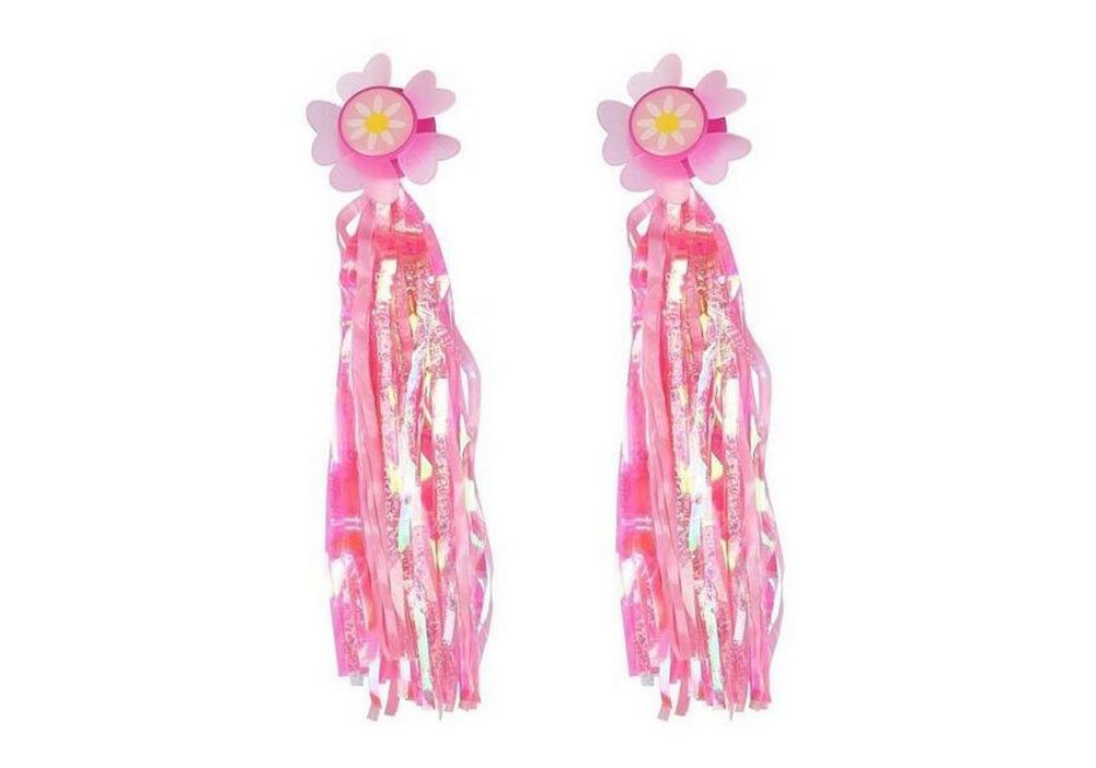 Sunflower Bike Scooter Handlebar Streamers-- Sparkle Tassel Pink Ribbons for Childrens Kids Bicycle Trike Grips Baby Carrier Accessories Elandy 4337039357