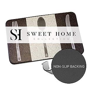 "Sweet Home Collection ANTFATIG-PLYA-TAN Memory Foam Anti Fatigue Kitchen Floor Mat Rug, Playa Tan, 30"" x 18"""