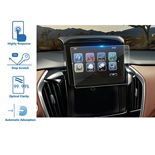 LFOTPP 2018 Chevrolet Traverse 8 Inch MyLink Car Navigation Screen Protector, [9H] Tempered Glass Infotainment Center Touch Display Screen Protector Anti Scratch High - Bike Performance Gift Card