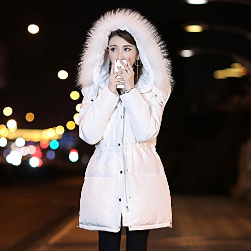 Coat Long Clothing Winter For White Warm In Woolen Cap Thick Down Jacket Color Even Photo Female Xuanku AqBPWYwxtq