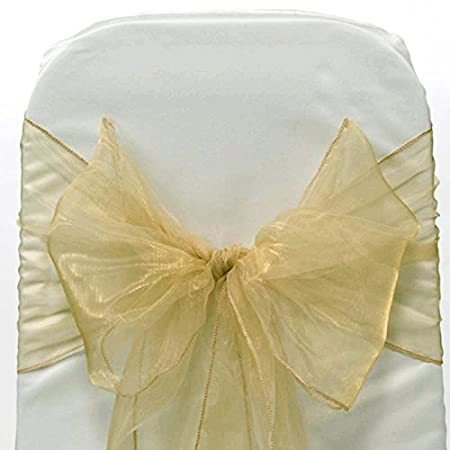 Party Christmas Banquet Decoration in 17cm X 275cm size 50 Pcs| GREEN Event Organza Chair Sash bows for Wedding