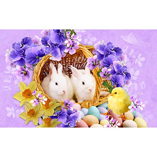 - Youtiankai Easter Festival 5D DIY Full Drill Diamond Painting Easter Basket Cross Stitch Embroidery