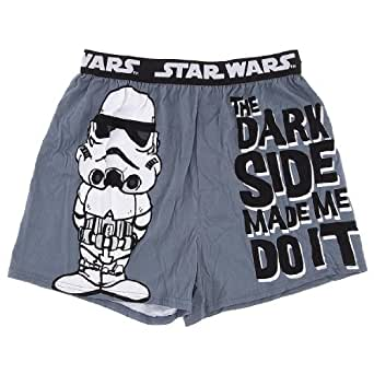 Star Wars Trooper The Dark Side Made Me Do It Mens Boxers (MENS-SMALL)