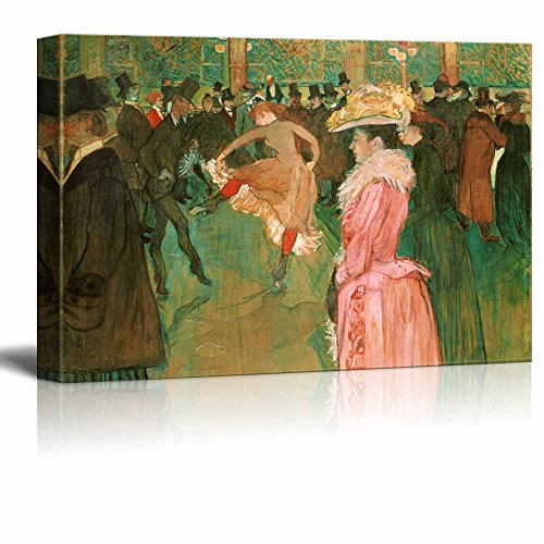 wall26 - at The Moulin Rouge: The Dance by Henri de Toulouse-Lautrec - Canvas Print Wall Art Famous Painting Reproduction - 16