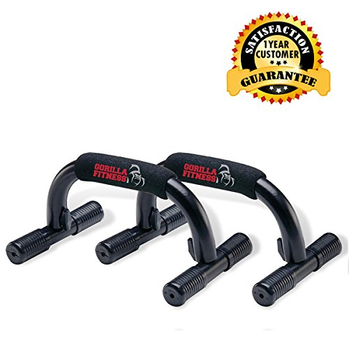 Push Up Bar from Gorilla Fitness - Creates Strong, Safe Pushup Stands,...