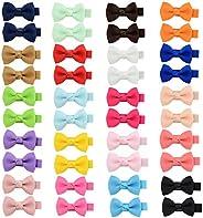 1.5 Inch Baby Girl Grosgrain Ribbon Bow Crocodile Clip Bow Clip Hairpin Girl Hair Accessories(20 Pairs)