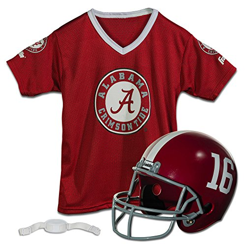 Crimson Youth Fan Gear - Franklin Sports NCAA Alabama Crimson Tide Youth Helmet and Jersey Set