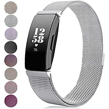 EUI Magnetic Bands Compatible Fitbit Charge 2,Stainless Steel Metal