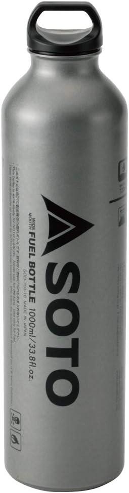 Soto SOD-700-10 - Botella de Gasolina para hornillo Muka (1 L), Color Plateado